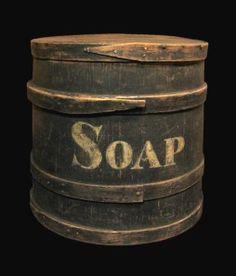 Vintage Wooden Barrel For Soap Primitive Antiques, Vintage Antiques, Primitive Country, Primitive Decor, Primitive Laundry Rooms, Savon Soap, Art Populaire, Vintage Laundry, Soap Boxes