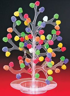 Gumdrop Tree, one of my favorite Christmas decorations. Grandmother always had one at Christmas time. Christmas Past, Vintage Christmas, Christmas Holidays, Christmas Crafts, Christmas Decorations, Desk Decorations, Christmas Garlands, Christmas Goodies, Holiday Fun