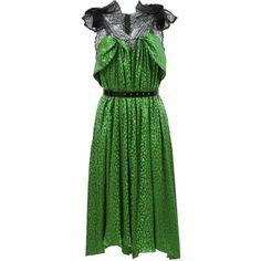 Green Polka Dot Cocktail Dresses