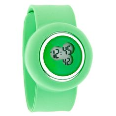 Slap-On Bracelet XL Lime Green Jelly Unisex Digital Quartz Fashion Watch Jelly Bracelets, Metal Bracelets, Fashion Watches, Women's Fashion, Women's Dress Watches, Steel Metal, Quartz Watch, Graduation, Lime