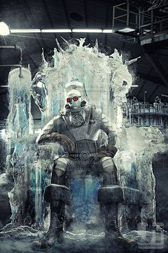 Cold, Dark and Lonely by jaytablante (Mr. Freeze cosplay with what looks like some digital rendering)