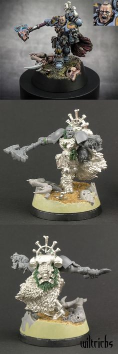 The Internet's largest gallery of painted miniatures, with a large repository of how-to articles on miniature painting Warhammer 40k Space Wolves, Warhammer 40k Figures, Warhammer 40k Miniatures, Warhammer Fantasy, Warhammer 40000, Warhammer Models, Minis, Marine Colors, Game Workshop