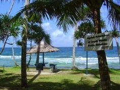 Namalatu Beach,  berada di Desa Latuhalat, jaraknya dari pusat kota Ambon kurang lebih 14 km menuju utara
