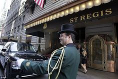 "'I realize that we're now heading down 5th Avenue and he seems to have a destination in mind. He rests his hand on my back and leads me into a turn on 55th Street. The fancy doorman at the St. Regis Hotel tips his hat as Max leads me into the elegant lobby. ""We're having tea here?""  Ruth Clampett. Work of Art (Kindle Locations 646-648)."