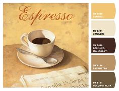 Paint colors from Chip It! by Sherwin-Williams: Caffe Latte