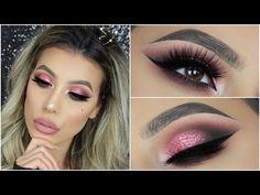 NEW Rose Gold Palette by Huda Beauty Eyeshadow Tutorial Huda Beauty Rose Gold Palette, Huda Beauty Eyeshadow, Gold Eyeshadow, Beauty Makeup, Eyeshadows, Makeup Tips, Makeup Magazine, Beauty Blender Video, Stunning Makeup