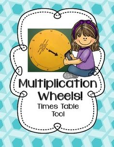 Multiplication Wheels - Times Tables Learning Tool (with a game! Second Grade Math, First Grade Math, Learning Tools, Learning Activities, Multiplication Wheel, Common Core Activities, Numbers For Kids, Times Tables, Math Facts