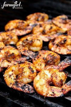 Grilled Caribbean Jerk Shrimp {2 ways!} from @Brenda Score | a farmgirls dabbles