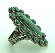 Vintage Navajo Sterling Silver and Turquoise by SITFineJewelry