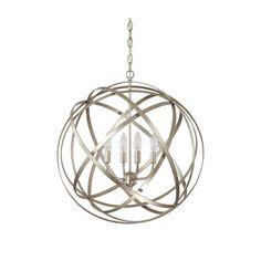 Axis Winter Gold Four Light Pendant Capital Lighting Fixture Company Globe Pendant Lighting $260