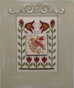 FOLK ART:  BIRD FLOWER