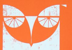 'Owl' Screen print by biroRobot