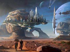 CITY OF THE FUTURE.....ON FANTASIA.... Sci Fi Art, Painting