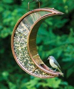 ☮ American Hippie Bohéme Boho Lifestyle ☮ Crescent Moon Bird Feeder
