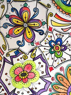Lots of flower doodles