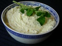Feta Cheese and Garlic Dip -- Serve with New York Style brand Bagel Crisps - The authentic taste of bagels from New York City bakeries. www.newyorkstyle.com/ #bagels #garlic #dip
