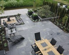 Love This Back Patio With Amble Seating And Meticulous Beds. Apparently A Vegetable Garden Can Easily Be Incorporated Into This Design . Sweet Contemporary Patio By Holly Marder Lounge Design, Patio Design, Garden Design, Firepit Design, Patio Diy, Backyard Patio, Backyard Landscaping, Patio Ideas, Backyard Ideas