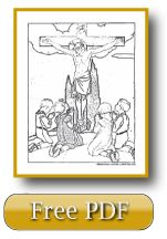 Jesus Dies On The Cross - My Lord and  my God, have mercy on us. Lent coloring pages.