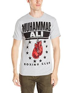 Mohamed Ali Men's Boxing Gloves Short Sleeve Crew Neck T-Shirt Boxing Shirts, Mma T Shirts, Tee Shirts, Muhammad Ali Boxing, Mma Clothing, Boxing Club, Boxing Gloves, S Man, T Shirts With Sayings
