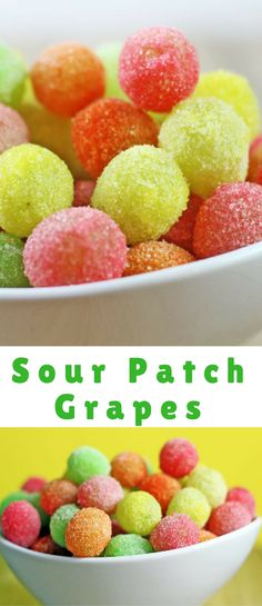 Sour Patch Grapes are a great sour candy fix! With only two ingredients they taste like you threw grapes into the machines at the Sour Patch Candy factory!