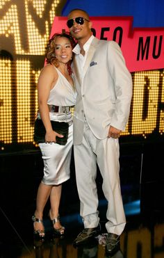 Ti And Tiny Wedding   Recording artist T.I. with his new wife Tameka 'Tiny' Cottle. (Ethan ...