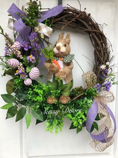 A personal favorite from my Etsy shop https://www.etsy.com/listing/576237444/easter-wreaths-wreath-with-bunny-easter