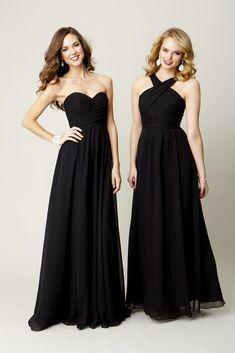 Long chiffon bridesmaid dresses are super chic and elegant.  6624e32e1ff0