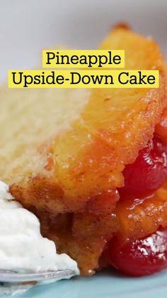 Fun Baking Recipes, Sweet Recipes, Cake Recipes, Dessert Recipes, Cooking Recipes, Delicious Desserts, Yummy Food, Pineapple Upside Down Cake, I Love Food