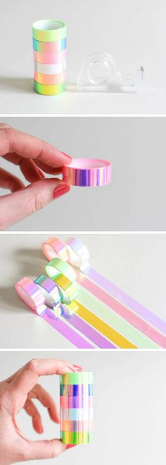 Holographic tape! Found on Etsy. Love this tape so much, It would be great for decorating my planner! #ad #etsyfinds #stationery #pastel