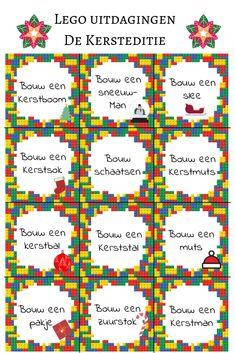 Lego uitdagingen in Kersteditie Leuke opdrachten om de kinderen te bouwen met lego #lego #uitdagingen #challenge Christmas Holidays, Christmas Crafts, Xmas, Busy Boxes, Family Weekend, Lego Duplo, Lego Creations, Family Games, Riddles
