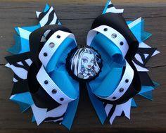Monster High Frankie Stein bow     Two Fireflies via Facebook