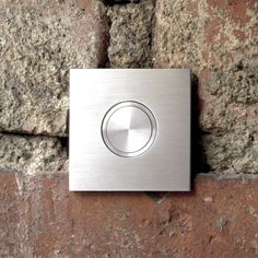 Brushed Stainless Steel Doorbell Plate Thickness Of 2 Mm Probe Diameter 19