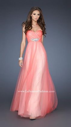 {La Femme 18773 | La Femme Fashion 2013} - La Femme Prom Dresses - Strapless - Princess - Sweetheart - Jewel Belt - Ruching