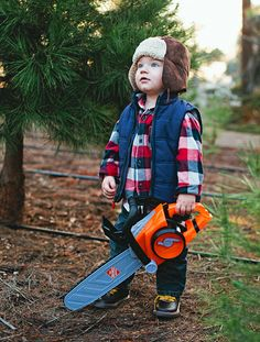 Christmas Ranch Tree Farms Little Lumberjack Baylee Slater - I can so see this being Oliver!!