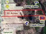 #Land In #Maine For Sale, 50 Acres Farm Pastures, Woods On Lake, Pond!