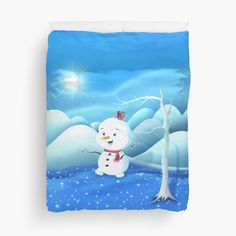 'Snowbaby on Sparkling Ice' Duvet Cover by We ~ Ivy Presents For Friends, My Themes, Website Themes, Good Cause, Sparkling Ice, Hand Towels, Kids Bedroom, Ivy, Playroom