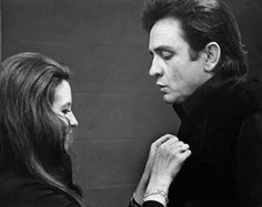 Johnny Cash and his wife June Carter