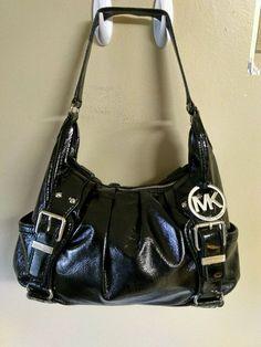 MICHAEL Michael Kors Beverly patent Leather Large Top Zip Hobo Shoulder Handbag