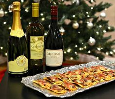 Holiday party wines and an easy appetizer!