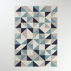 Elga carpet La Redoute Interieurs Very soft and comfortable, the Elga carpet brings a graphic touch to your interior.Description of the Elga rug: Graphic pattern. Graphic Patterns, Graphic Prints, Ikea Pax, Cool Rugs, Colour Schemes, Diamond Pattern, Accent Colors, Rug Runner, Rug Size