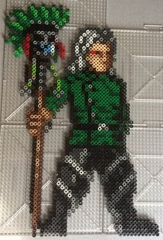 Perler of Oracion Seis members Brain/Zero and his living staff Klodoa The sprite is from a nintendo DS game Fairy Tail Gekitou! Zero and Klodoa Perler Pattern Art, Pattern Paper, Paper Patterns, Art Patterns, Graph Paper, Perler Bead Art, Perler Beads, Pokemon First Generation, Pokemon One