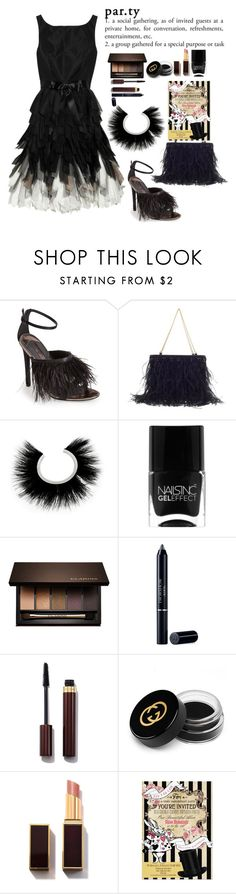 """Party"" by juliehalloran ❤ liked on Polyvore featuring Oscar de la Renta, Topshop, Chanel, Isabel Marant, Nails Inc., Clarins, Christian Dior, Gucci, women's clothing and women"