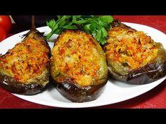 מתכון עצלן לארוחת ערב משפחתית ללא טרחה - YouTube Eggplant Dishes, Baked Eggplant, Eggplant Recipes, Vegetable Chips, Vegetable Recipes, Greek Recipes, Italian Recipes, Savoury Finger Food, Cooking Recipes