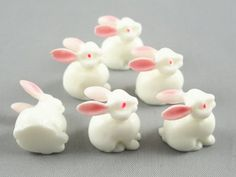 20 Pcs Dimensional Resin Flatback Appliques Craft Cute White Bunny DIY Craft * Check out this great item.