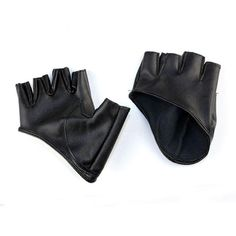 Towallmark 1PC Half Finger Leather Driving Gloves For Ladies Women (€2,57) ❤ liked on Polyvore featuring accessories, gloves, driving gloves, leather driving gloves, real leather gloves and leather gloves