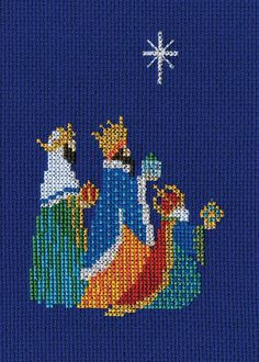 Bothy Threads Cross Stitch Card Kit, THREE KINGS Wise Men, Religious Christmas Card, Craft Gift for Her Him, Sewing Embroidery Needlework by SambaCrafts on Etsy Cross Stitch Christmas Cards, Xmas Cross Stitch, Cross Stitch Cards, Cross Stitch Kits, Christmas Greeting Cards, Cross Stitch Designs, Christmas Greetings, Cross Stitching, Cross Stitch Embroidery