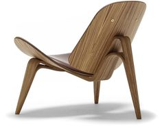ch07 lounge  Design Hans Wegner, 1963  Form-pressed plywood, upholstery  Made in Denmark by Carl Hansen & Son