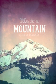 LIFE IS A MOUNTAIN PRINT ON METAL  By Monika Strigel     Collection: Mountains  Gallery quality print on thick 45cm / 32cm metal plate. Each...