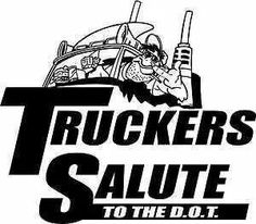 Truckers salute