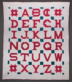 Alphabet Quilt circa 1880, Ohio. check out the C and G